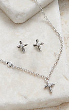 Montana Silversmiths Strong Faith Cross Mini Jewelry Set