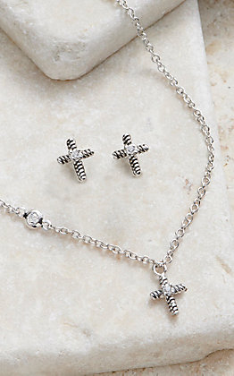 Montana Silversmiths Strong Faith Cross Mini Jewelry Set
