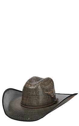 Justin Bent Rail Fenix Two Tone Vented Crown Straw Cowboy Hat