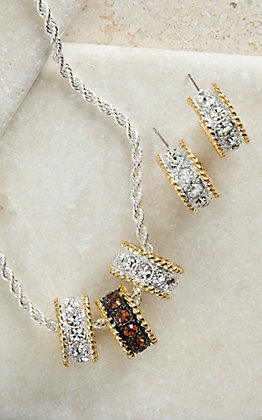 Montana Silversmiths Two-toned Small Hoop Jewelry Set
