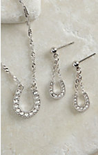 Montana Silversmiths Clear Rhinestone Horseshoe Jewelry Set