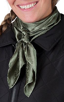Jacquard Sage Silk Wild Rags Scarf