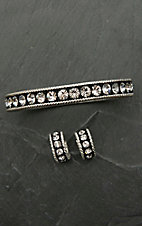 Montana Silversmiths Crystal Shine Bracelet and Earrings Jewelry Set