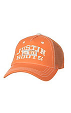 Justin Boots Orange Est 1879 Mesh Back Cap