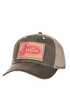 Justin Boots Dark Brown with Patch Logo Cap