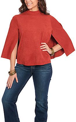 Jealous Tomato Women's Sienna Open Sleeve Cape Back Fashion Top