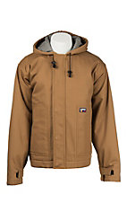 Lapco Brown Hooded Flame Resistant Jacket