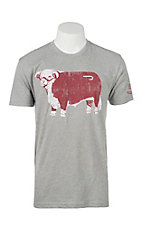 Lazy J Ranch Wear Grey Jughead Hereford T-Shirt