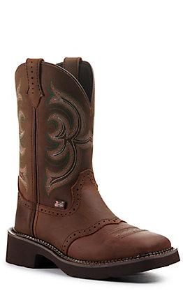 Justin Women's Gypsy Inji Dark Brown Square Toe Western Boot
