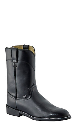 Justin Basics Men's Black Cow Roper Boots