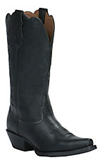 Justin Farm & Ranch Women's Panther Black Snip Toe Western Boots