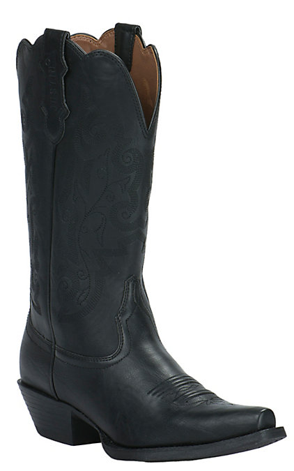 2f94f45b40e Justin Farm & Ranch Women's Panther Black Snip Toe Western Boots