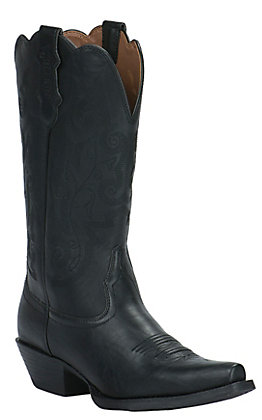 44965fb3c0f Justin Farm & Ranch Women's Panther Black Snip Toe Western Boots