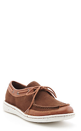 Justin Women's Chocolate Suede Opanka Easy Rider Casual Shoes