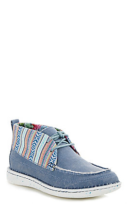 Justin Women's Denim Aztec Easy Rider Moccasin Casual Shoes