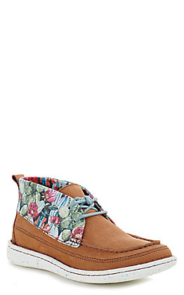 Justin Women's Pecan Cactus Easy Rider Moccasin Casual Shoes