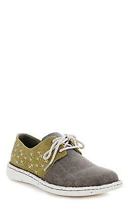 Justin Cac-Tie Women's Chocolate & Olive Casual Shoes