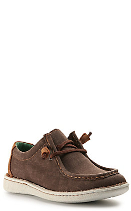 Justin Women's Easy Rider Hazer Dark Taupe Canvas Moc Toe Casual Shoes