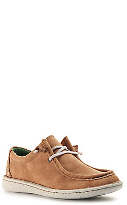 Justin Women's Easy Rider Hazer Honey Canvas Moc Toe Casual Shoes