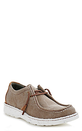 Justin Men's Easy Rider Hazer Clay Canvas Moc Toe Casual Shoes