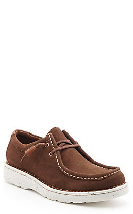Justin Men's Easy Rider Chocolate Suede Opanka Lace Up Casual Shoes