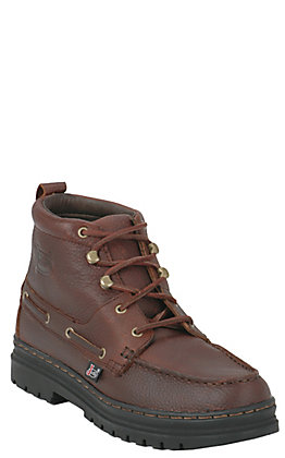 Justin Men's Chip Brown Chukka Style Lace Up Casual Boots