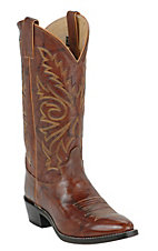 Justin Men's Chestnut Brown Marbled Deerlite Classic Western Boots