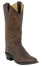 Justin Men's Dark Brown Marbled Deerlite Classic Western Boots