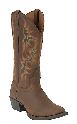 Justin Stampede Collection Men's Sorrel Apache Brown Western Boots