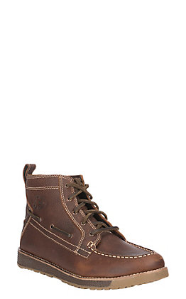 Justin Men's Sun Oak Brown Lace-Up Casual Shoe