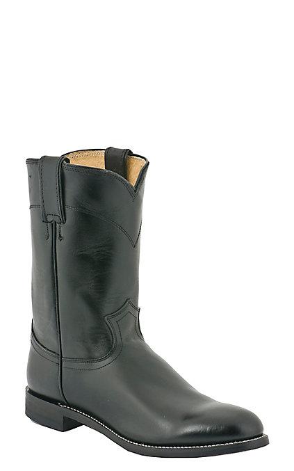80808737639 Justin Men's Black Kipskin Classic Leather Roper Boots