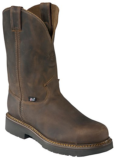 Justin Original Workboots Men's Rugged Bay Gaucho Brown JMAX Steel ...