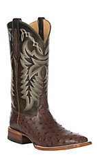 Justin Men's Kango Cowboy Full Quill Ostrich Exotic Western Square Toe Boots
