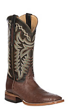 Justin Men's Pascoe Kango Cowboy Brown Smooth Ostrich Exotic Boot