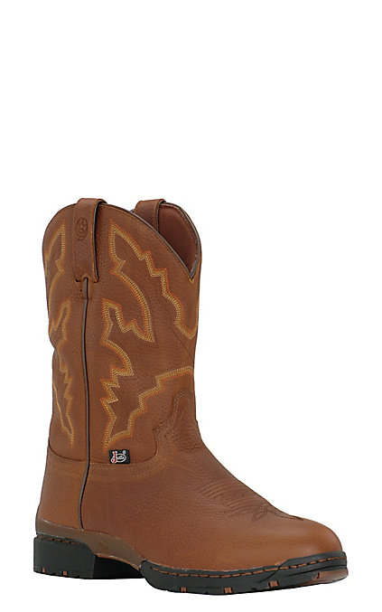 7d1b91dc1d3 Justin 3.1 Men's George Strait Smooth Coffee Slip-On Waterproof Performance  Boot