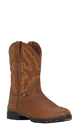 Justin Men's 3.1 George Strait Smooth Coffee Waterproof Round Toe Performance Boot