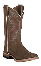 Justin Youth Brown Square Toe Western Boots