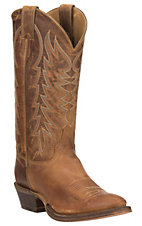 Justin Bent Rail Men's Desert Cognac Performance Sole R Toe Western Boots