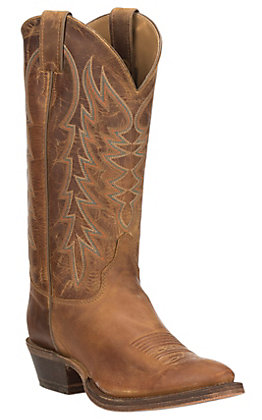 Justin Men's Bent Rail Performance Keaton Desert Cognac Brown R-Toe Western Boot
