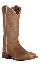 Justin Bent Rail CPX Men's Tan Sierra Double Welt Square Toe Western Boots