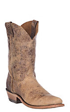 Justin Bent Rail Men's Tan Road Chip Square Toe Western Boots