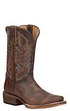 Justin Bent Rail Men's Cognac Performance Sole Punchy Toe Western Boots