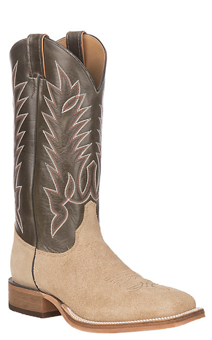 dba1479f4 Justin Men's Bent Rail Capetown Peat Upper and Khaki Roughout Leather  Western Square Toe Boot