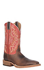 Justin Bent Rail Men's Brushed Tan and Soft Brazil Square Toe Western Boots