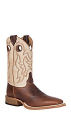 Justin Bent Rail Men's Cognac Damiana & Bone Performance Square Toe Western Boot