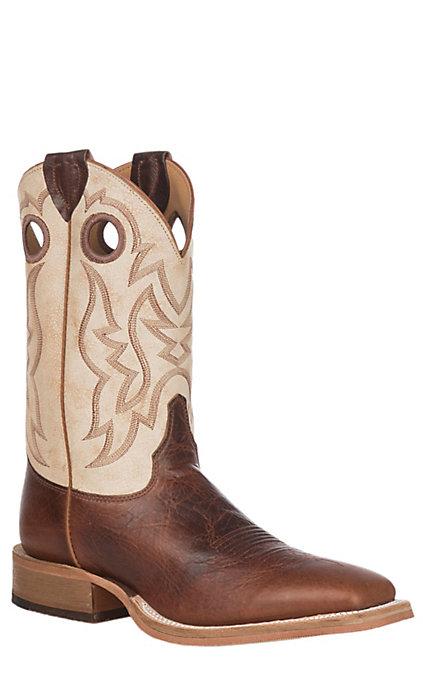 e0f776cc181 Justin Bent Rail Men's Caddo Cognac Damiana Wide Square Toe Western Boots