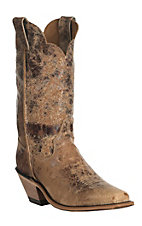 Justin Bent Rail Women's Cracked Tan Road Punchy Square Toe Western Boots