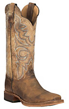 Justin Bent Rail Women's Distressed Katia Tan Punchy Toe Western Boots