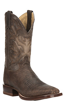 Justin Men's CPX Collection Brown Square Toe Exotic Boots