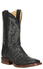 Justin Men's CPX Collection Black Square Toe Exotic Boots